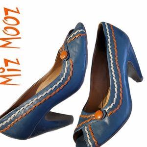 Miz Mooz arty peep tow high heel pumps